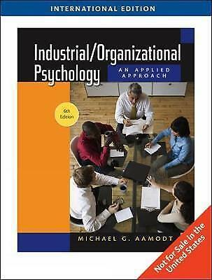Industrial/Organizational Psychology, Aamodt, Michael, Used; Very Good Book