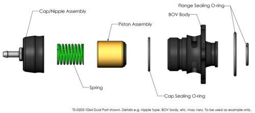 Válvula de descarga Turbosmart reforzadas Recirc Kompact Shortie Vauxhall Corsa D y E VXR