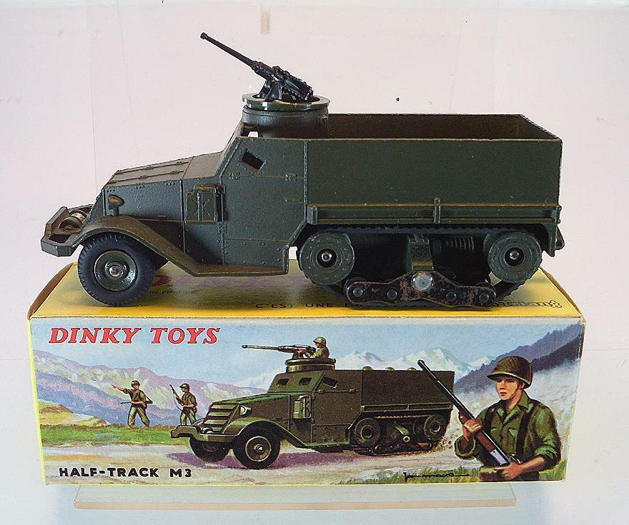 Dinky Spielzeugs France Militär 822 Half Track M 3 with M.G. OVP  6054