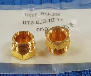 Details About NEW Set 6 Brass 3 8 INVERTED FLARE TUBE NUT 5 Hex Head 9 16 Thread