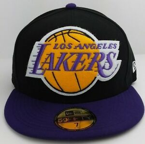 067e7c582ce Los Angeles Lakers NBA New Era 59FIFTY fitted hat cap Chenille patch ...