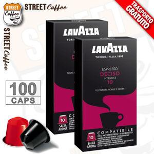 100-Cialde-Capsule-Caffe-Lavazza-Compatibili-Nespresso-Miscela-Deciso-gratis