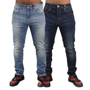 Nuevo-Para-Hombres-Firetrap-Jeans-skinny-fit-de-algodon-Pantalones-informales-Pantalones-de