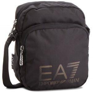 rivenditore di vendita f678e 3fba6 Dettagli su Tracolla Uomo Emporio Armani EA7 275663 CC732 Borsello Nero Blu  Zip Tasca Nuova