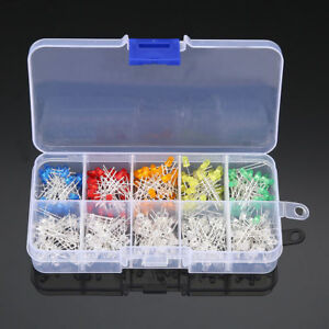 3mm-LED-Sortiment-300-Stueck-10-Wert-Runde-Leuchtdioden-LEDs-helle-Dioden-DIY-Kit