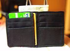 Minimalist #3 Men's Mini Wallet Fabric Vegan Black Bifold Designs by Lulu