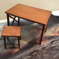 1/6 Did Wwii German Sophie Wooden Table & Stool
