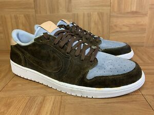 Details about RARE???? Nike Air Jordan 1 Retro Low OG Premium Ice Blue Custom Sz 16 905136-402