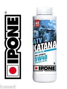Huile-IPONE-5W40-4t-ATV-QUAD-100-Synthese-Bidon-1-Litre-NEUF-oil
