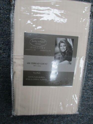 Kathy Ireland 400 Thread Count 100/% Cotton Stripe PILLOW CASES IVORY CREAM COLOR