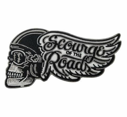NEW! AMERICANA RRP ВЈ9 MOTORBIKE SCOURGE OF THE ROAD IRON ON PATCH