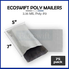 75 5x7 White Poly Mailers Shipping Envelopes Self Sealing Bags 235 Mil 5 X 7