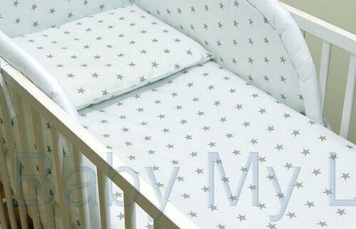2 3,4,5,6 or 8 pcs Baby Nursery bedding set//Bumper  fit Cot or Cot Bed//Cotbed