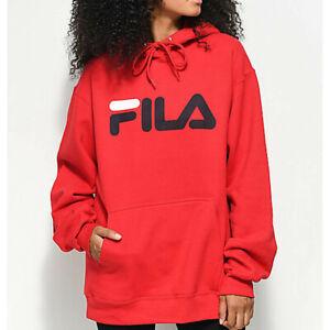 FILA Hoodie RED Sweatshirt Retro Logo