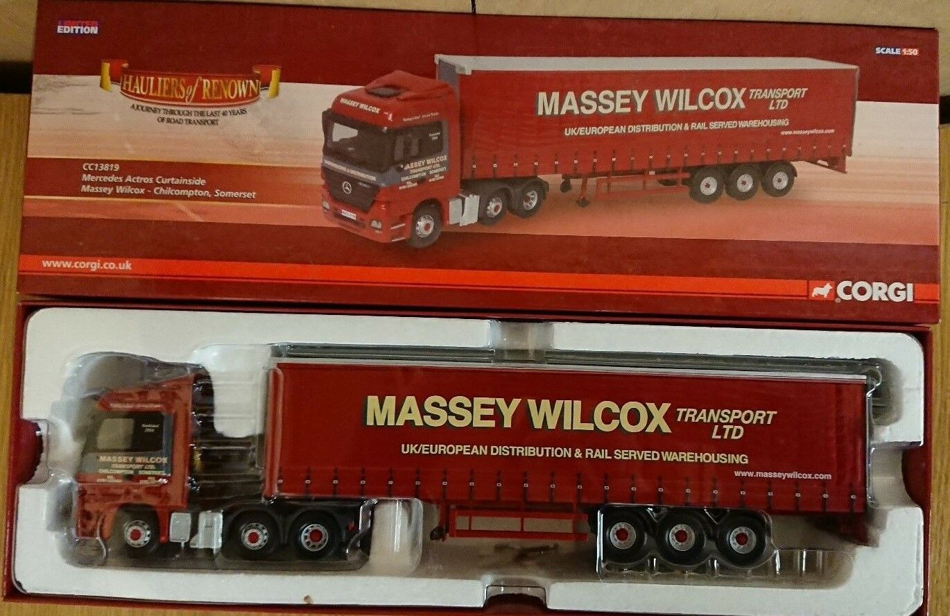 Corgi CC13819 Mercedes Actros Curtainside Massey Wilcox Somerset Factory Sample