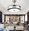 Modern-36-034-Invisible-Ceiling-Fans-with-3-Color-LED-Light-Fan-Chandelier-remote thumbnail 8