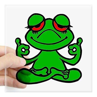 CafePress Happy Green Frog Sticker Square Sticker 1326267598