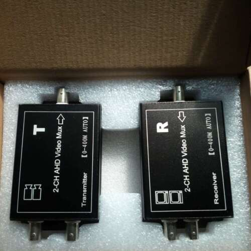 N-CITY B-TWO  Channel Coax Video Multiplexer AHD//CVI//TVI HD Video 2PCS
