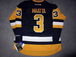 Image is loading OLLI-MAATTA-Pittsburgh-Penguins-SIGNED-Autographed-Third- JERSEY- 7aeaa8ae5