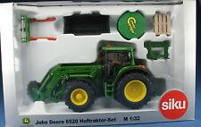 SIKU - JOHN DEERE 6520 Hoftraktor-Set - Agritechnica 2005 Sondermodell - 1:32