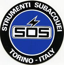ADESIVO VINTAGE (ANNO 1984 )/STICKER * SOS - STRUMENTI SUBACQUEI -TORINO- ITALY*