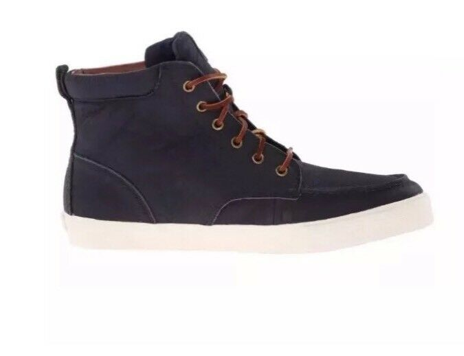 NEW POLO RALPH LAUREN MENS TEDD NAVY ANKLE BOOTS SIZE 10 D