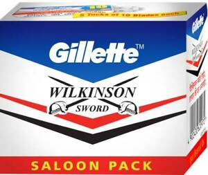 100-blade-x-GILLETTE-WILKINSON-SWORD-RAZOR-BLADES-Double-Edge-Safety-Razor-Blade