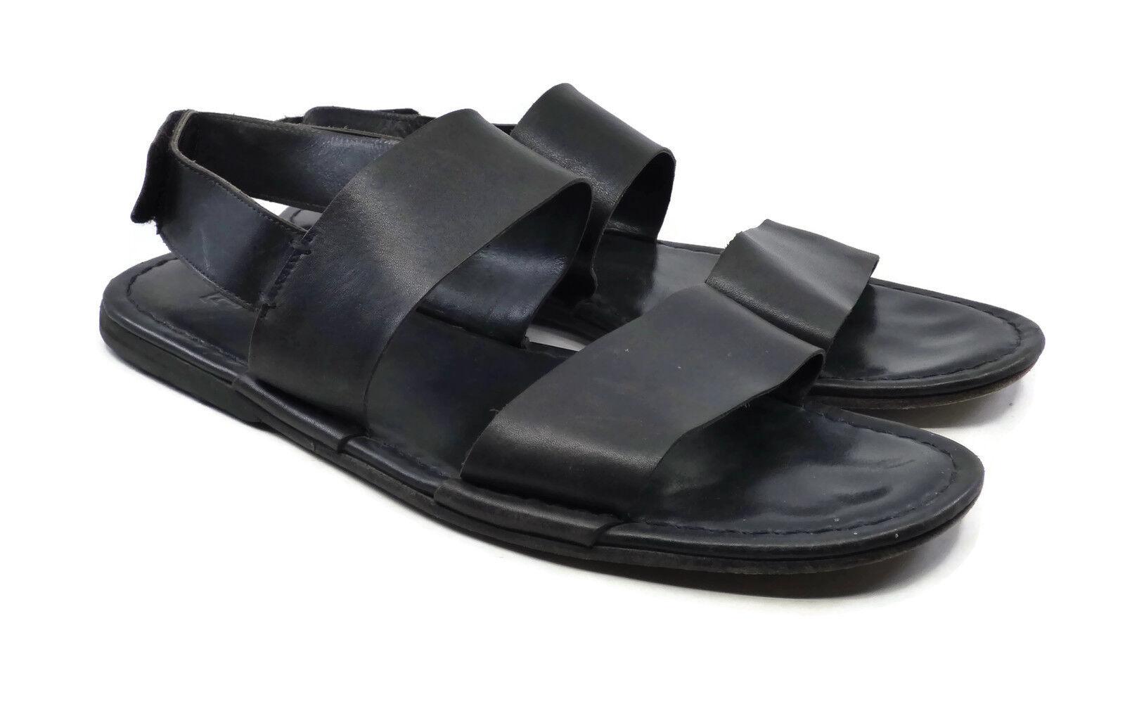 Frye Men's Men's Men's Black Leather Strap Sandals Size 11 M Made in Spain FRYE c40375