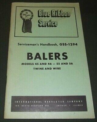 INTERNATIONAL HARVESTER 45 46 55 56 BALERS SERVICE SHOP REPAIR MANUAL GSS-1294
