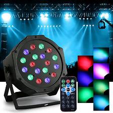 36W 18LEDs RGB Stage Lighting LED Par Light with Remote Control AC 110-220V New