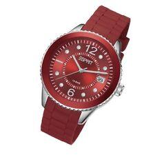 ESPRIT Uhr Marin 68 pastel red Silikon Datum Strass Damenuhr Quarz ES105342020