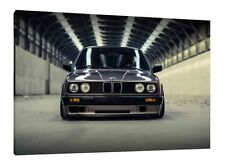 BMW E30 M3 - 30x20 Inch Canvas Art - Framed Picture Print Wall Poster