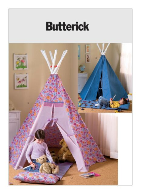 Butterick SEWING PATTERN B4251 Play Tepee And Mat