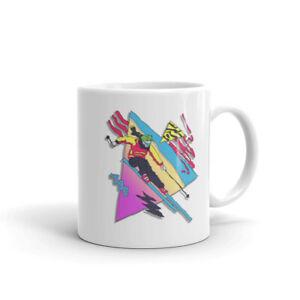 Skiing Mug, Ski Mug, Skier, Skiing gift, retro Mug,  Coffee Mug