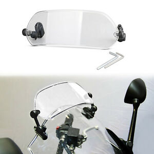 Clip-On Windshield Extension Spoiler Wind Deflector For Most Motorcycle Clear AU
