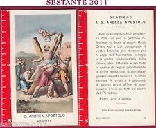 1014 SANTINO HOLY CARD S. ANDREA APOSTOLO MARTIRE ED G MI ED. G MI. 96 LOGO C