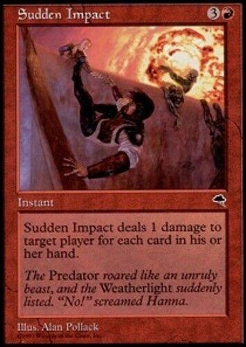 4x Sudden Impact MTG Tempest NM Magic Regular