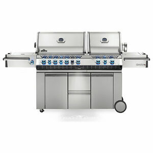 Napoleon Prestige PRO 825 Grill On Cart with Infrared Rotisserie and Side Burner