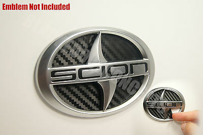 (11-2013) Scion TC Carbon Fiber Rear Trunk Inlay Emblem Decal vinyl smoked