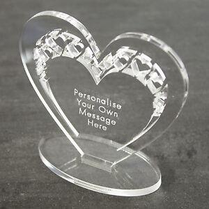 Personnalisé coeur message souvenir anniversaire anniversaire cadeau mariage