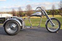 Trike Softail Bobber Chopper Frame Rolling Chassis Roller Harley Bike Kit + Tins