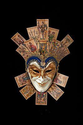 Joker with Naibi Cards - Venetian Masquerade Mask - NEW from Venice Italy