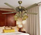 9501 European 48 Inches 4 Lights Diameter 122CM Rope Control Ceiling Fans Light