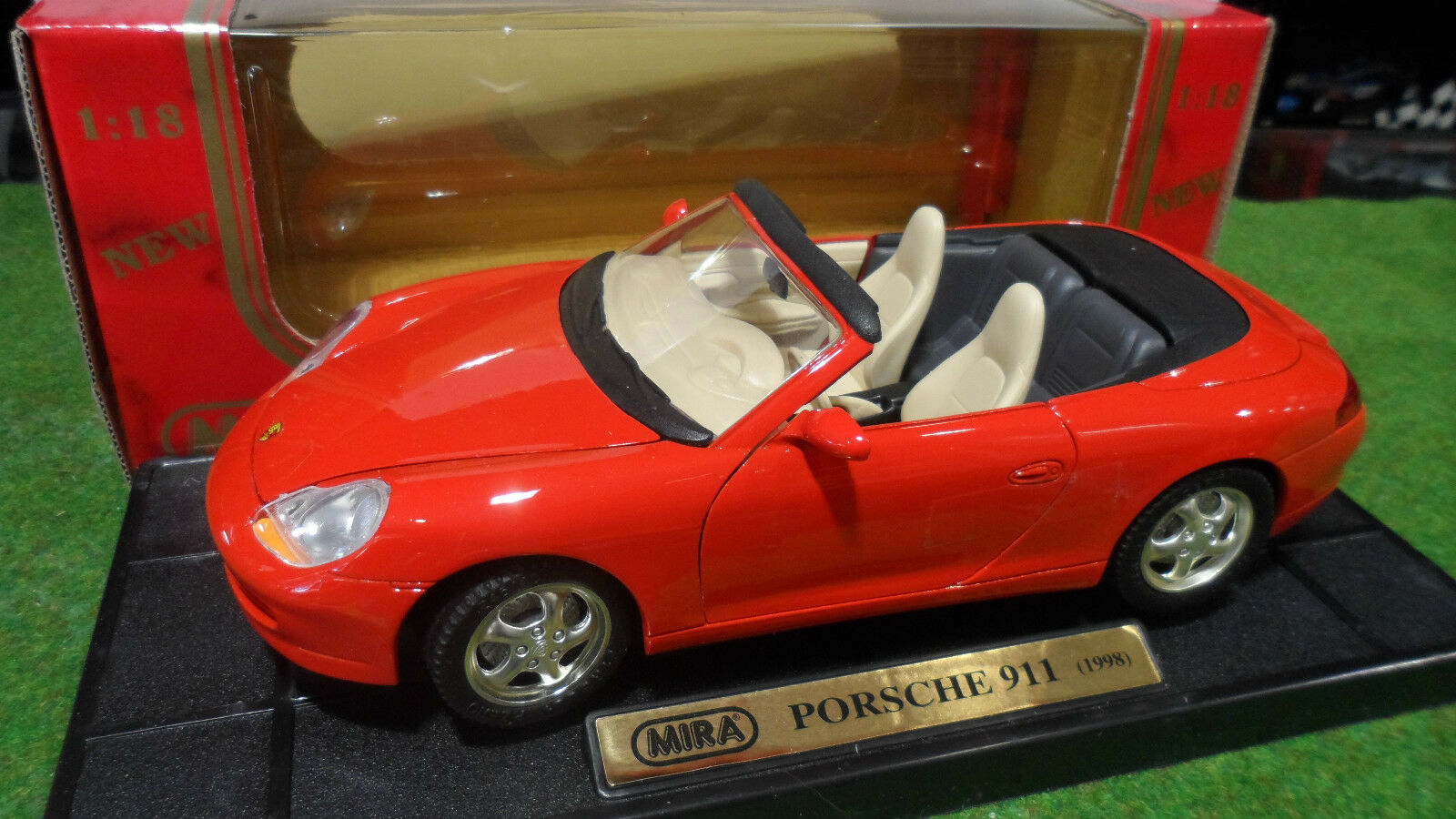 PORSCHE 911 996 Carrera Cabriolet 1998 Rouge 1 18 MIRA 06930 voiture miniature