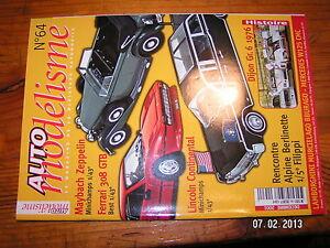 / Auto Modelisme N°64 Dijon Gr.6 1976 Lola T70 Berlinette Filippi Mercedes W125 Pour Effacer L'Ennui Et éTancher La Soif