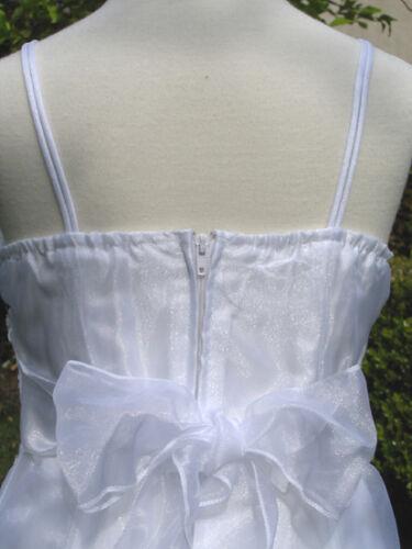Wedding 8,10,12 Recital Occasion//Pageant Teen Girls Dress,White Sz