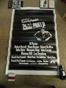THE GODFATHER PART 2(1974)AL PACINO ORIGINAL 1 SHEET POSTER ROLLED NICE!
