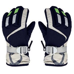 Children-Winter-Warm-Kids-Ski-Snowboard-Gloves-Mittens-W-Adjustable-Strap-New