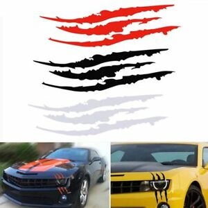 Cool-Headlight-Scratch-Stripe-Decal-Sticker-Claw-Stripe-Slash-Truck-Car-Vinyl