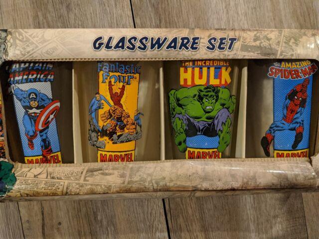 Marvel 4 Pack Pint Glasses